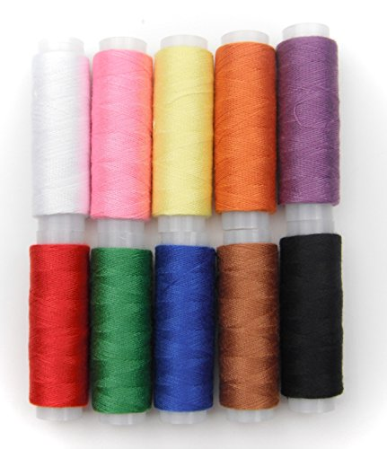 All In One Polyester Yarn Coils Strings Sewing Thread (10 Color)