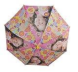 Arditex Soy Luna 9699 - Paraguas con caña de 70 cm, color rosa o amarillo