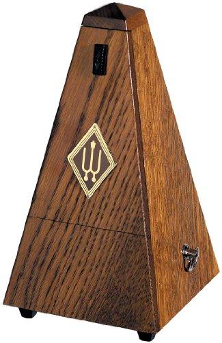 Wittner Taktell Pyramidenform Metronom Holzgehäuse ohne Glocke Eiche braun-matt