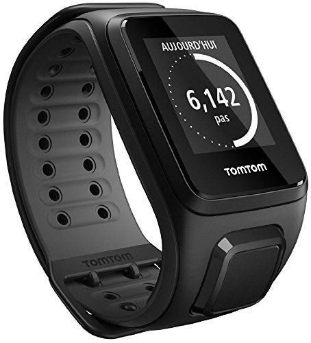 TomTom Runner 2 Cardio - Montre GPS - Bracelet Large Noir / Anthracite (ref 1RF0.001.04)