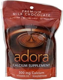Adora 500 mg Calcium Supplement Disk, Organic Milk Chocolate, 30 Count