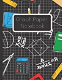 Graph Paper Notebook: Simple Graph Paper Journal - Quad Ruled 4x4 Pages, grid notebook paper for Math and Science Students