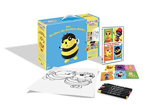 Drôles de Petites Bêtes-Je m'éveille avec. (DVD+Puzzle+6 Crayons Pastels + Poster)