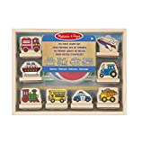 Melissa & Doug- Veicoli My First Stamp Vehicles Primo Set di Timbri, Multicolore, 12391