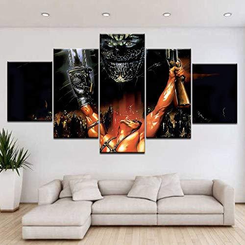 yuandp 5 plankjes/stuks HD Print Dark Legion Poster Muurposter Canvas Kunst Schilderij voor huis woonkamer decoratie L-30x40 30x60 30x80cm Geen lijst