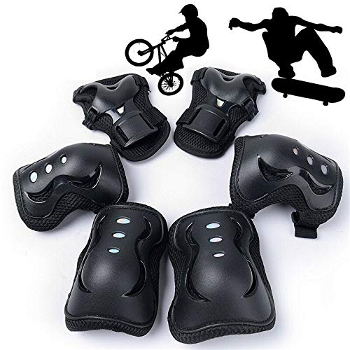 YYZC Outdoor Sport Elleboog Kniebeschermers Schaatsen Beschermende Gear Sets Elleboog Kniebeschermers 6 stks Fietsen Skateboard Volwassene Kid