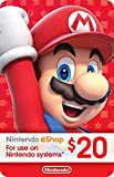 Nintendo eShop PrePaid Card $20 USD (Switch/3DS/Wii U)