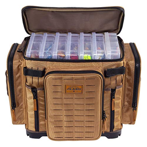Plano Guide Series Tackle Bag | Premium Tackle Storage with No Slip Base and Included stows, Khaki with Brown and Black Trim, 3700XL (PLABG371)