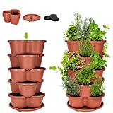 Amazing Creation Stackable Planter Vertical Garden for Growing...