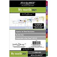 AT-A-GLANCE 2021 月間プランナー 詰め替え 5-1/2インチ x 8-1/2インチ サイズ4、キャシー・デイビス(KD81-685-21)