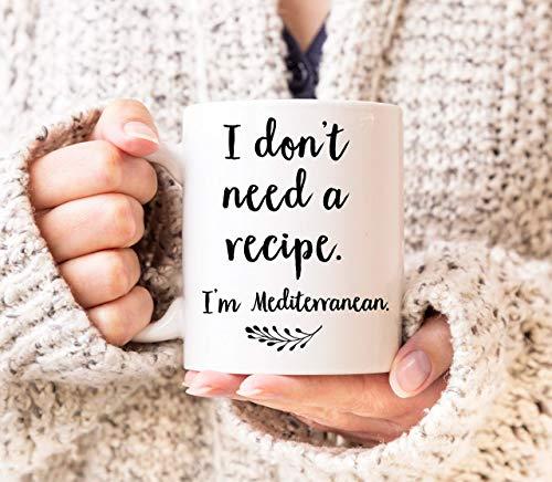 N\A egalos mediterráneos Cocina mediterránea Dieta mediterránea Taza Europea Chef Europeo Taza Blanca