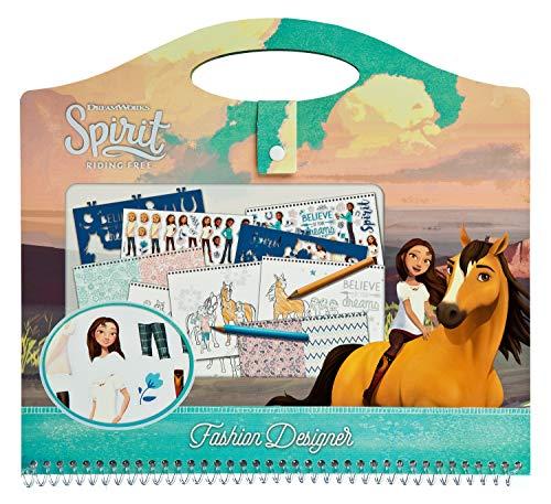 Undercover SIIT2243 Fashion Designer, schilderset met stickers, sjablonen, schildersjablonen en nog veel meer, DreamWorks Spirit, blauw-roze
