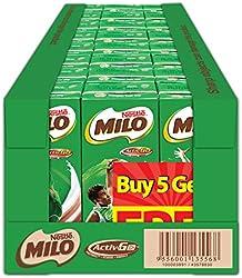 MILO UHT Chocolate Malt Packet Drink 5+1 Case, 200ml, Pack of 24
