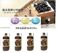4本セット 黒豆力 プレミアム 発酵 黒大豆搾り 720ml