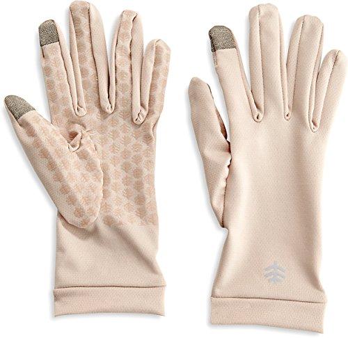 Coolibar - Guantes de protección UV para Mujer, Mujer, Color Beige, tamaño Medium