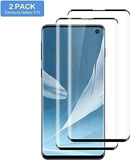 Hanbee Protector Pantalla para Samsung S10 [2 Piezas], Cristal Templado Samsung Galaxy S10 [Sin Burbuja] [Cubierta 3D], Protector S10, Cristal Templado S10 - Negro