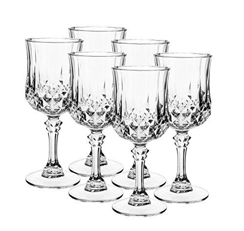 Cristal d'Arcques–Série Longchamp, Verre à vin Qui incarne beauté et élégance
