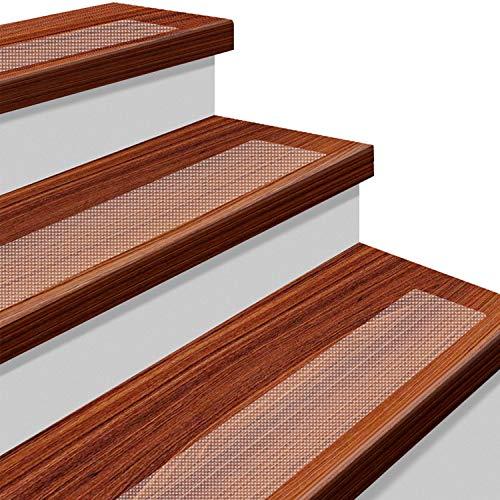 階段 滑り止め スリップ防止マット YISUN 転倒防止 階段滑り止めマット 15枚入り PEVA製 階段・玄関・屋内・屋外用
