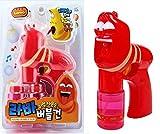 Cartoon Larva Red Figure Bubble Gun Sound & Shine Toy