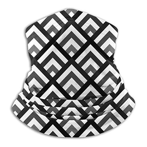 KKLDOGS Chevron - Braga de cuello de microfibra con soporte de ángulo para el cuello, bufanda para clima frío, para invierno, deportes al aire libre, pasamontañas, unisex