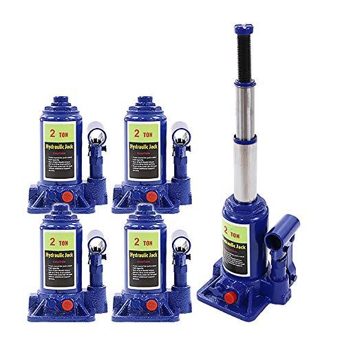 ボトルジャッキ 油圧式 定格荷重約2t 約2.0t 約2000kg 4台セット 4個 油圧ジャッキ 二段階 三段階 多段階 だるまジャッキ ダルマジャッキ ジャッキ 手動 安全弁付き ジャッキアップ ハイアップ タイヤ交換 工具 整備 修理 メンテナンス