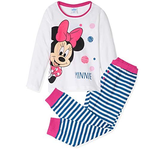 Disney Minnie Mouse Character Mädchen Schlafanzug Baumwolle Pyjama Set aus Langarm...