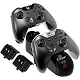 Controller Charger Station for Xbox One/One S/One Elite Controller, YCCSKY Xbox One Charging Station with 2 Pack 1200mAh Xbox One Rechargeable Battery