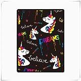 HZ-ditan Inicio Manta Polar Super Soft Warm Cozy, Rainbow Dream Unicorn Mantas de Sofá Fuzzy Throw, para Sofá Cama (Size : 70'x 90')