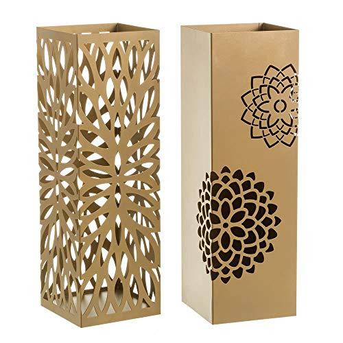 Casaselección Paragüero diseño Flores de Metal para la Entrada Color Dorado 2 diseños - Chloe Sweet Home