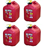No-Spill 1450 5-Gallon Poly Gas Can (CARB Compliant) (5-Gallon Pack of 4)