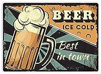 Best Beer In Town メタルポスター壁画ショップ看板ショップ看板表示板金属板ブリキ看板情報防水装飾レストラン日本食料品店カフェ旅行用品誕生日新年クリスマスパーティーギフト