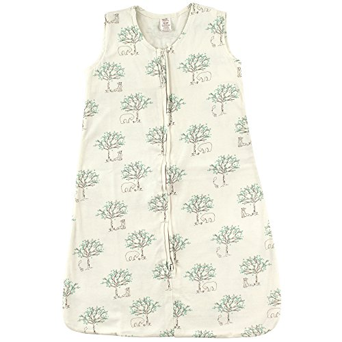 Touched by Nature Baby Organic Cotton Sleeveless Wearable Sleeping Bag, Sack, Blanket, Birch Tree, 6-12 Months