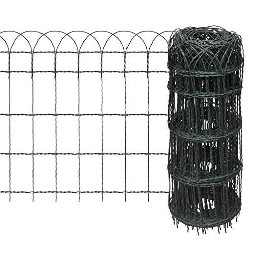 vidaXL Beetzaun Beeteinfassung Beetumrandung Gartenzaun Zaun Eisen 25×0,65 m