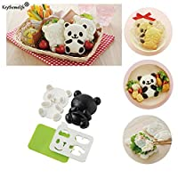 4pcs/set Panda Mold Rice Sushi Mold Onigiri Shaper and Dry Roasted Seaweed Cutter Set Kitchen Mold Tools 2C