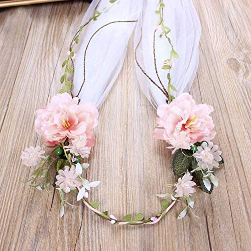 Baroque Rose Head Veil Hand Our shop OFFers the best service Ranking TOP20 Woven White Dress Wedding Wome Bride