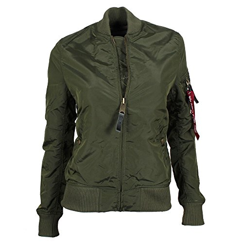 ALPHA Industries MA-1 TT Wmn Women Jacke dark green, Größe:M