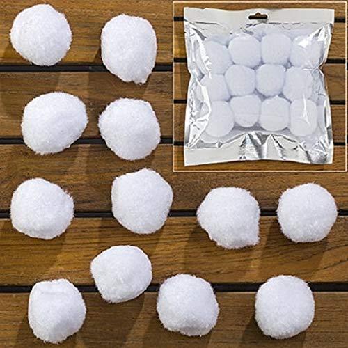 Unbekannt 12 STK Schneekugeln 4cm Kunstschnee Schneebälle Schneeball Deko Schneeflocken Weihnachten Dekoschnee Kugeln Schnee Weiss Dekoration Basteln
