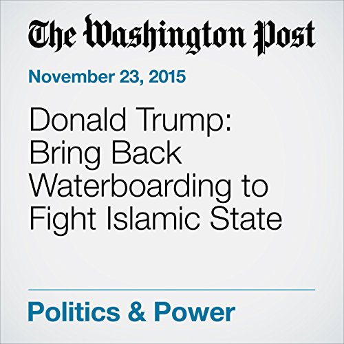 Donald Trump: Bring Back Waterboarding to Fight Islamic State audiobook cover art