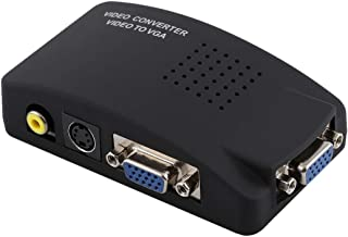 New Networking Accessories High Resolution (BNC) Video and S-Video to VGA Conversion(Black) Used for Network