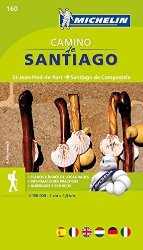 Mapa-Guía Camino de Santiago: St Jean Pied de Port, Santiago de Compstela (Mapas Temáticos Michelin)