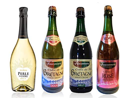 Cidre de Bretagne - Probierpaket- 4 Sorten- Apfelwein Frankreich-Top-Präsent!!!