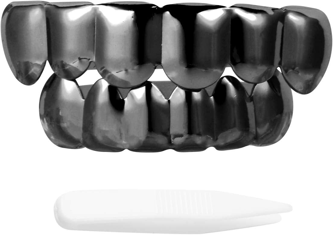 1 Max 60% OFF year warranty SOIMISS Set Hip Hop Golden Teeth Tooth Cover Brace Rap