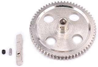 RC Metal Steel Differential Center Gear 62T CNC Machined 0015 for 1/12 Wltoys 12428 12628 12423 Short Course Buggy Off-Road Car Upgrades Parts (Silver)