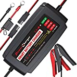 BMK 12V 5A Smart Battery Charger Portable Battery Maintainer with Detachable...