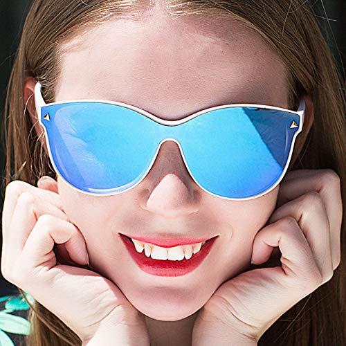 N/A Gafas de Sol para Hombre Gafas de Sol para Mujer Nuevas Gafas de Sol de Moda Gafas de Sol de una Sola Pieza con película en Color y Todo fósforo