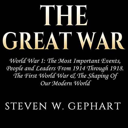 The Great War: World War 1 audiobook cover art