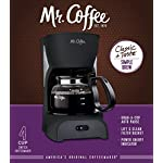 Mr. Coffee Simple Brew Coffee Maker|4 Cup Coffee Machine|Drip Coffee Maker, Black 6 Imported