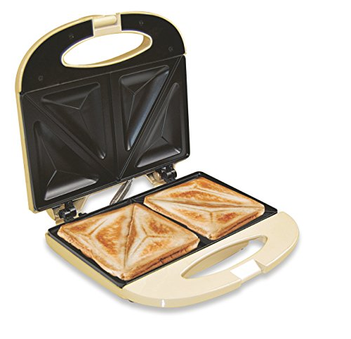 Jocca 5064C Sandwichera de aluminio, 2 rebanadas y placas an