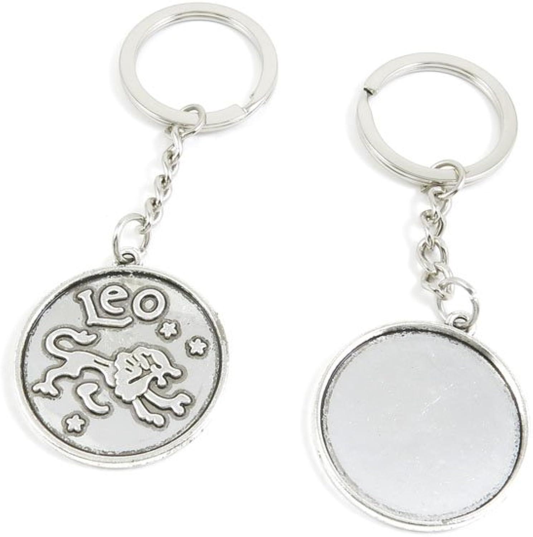 140 Pieces Fashion Jewelry Keyring Keychain Door Car Key Tag Ring Chain Supplier Supply Wholesale Bulk Lots I1RG4 Leo Round Cabochon Base