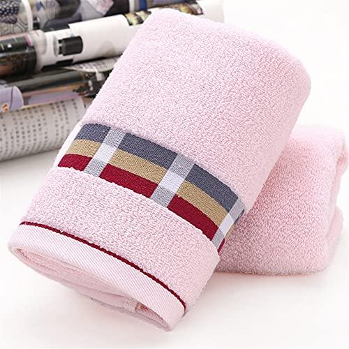 Toalla De Algodón Facecloth Toalla De Deportes Hombres Y Mujeres Niños Adultos Toalla #2233 (Color : Pink, Size : 73x33cm)